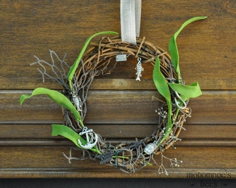 Lake-town Ringwreath: Tolkien/Hobbit Wreath Featuring Fish Net, Kelp/Seaweed, Fishing Charms, & More