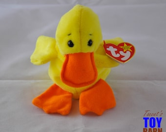 Quackers the Duck 1994 Vintage Ty Beanie Baby Toy