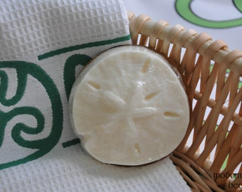 """Modomnoc's Bees South Seas """"Buccaneer Bees"""" Sand Dollar Cocoa Butter Soap"""