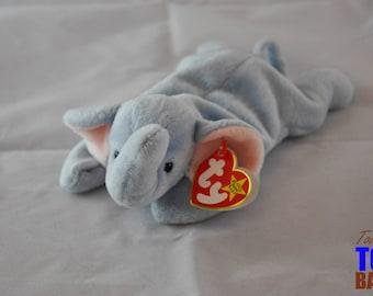 Peanut the Elephant: Vintage 1995 Ty Beanie Baby Toy