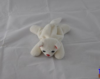 Vintage 1997 White Cat Beanie Bopper From 24K Company