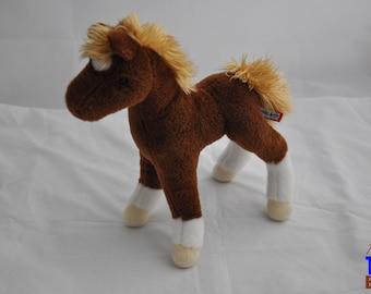 Chestnut Horse Plushie from Douglas with White Socks