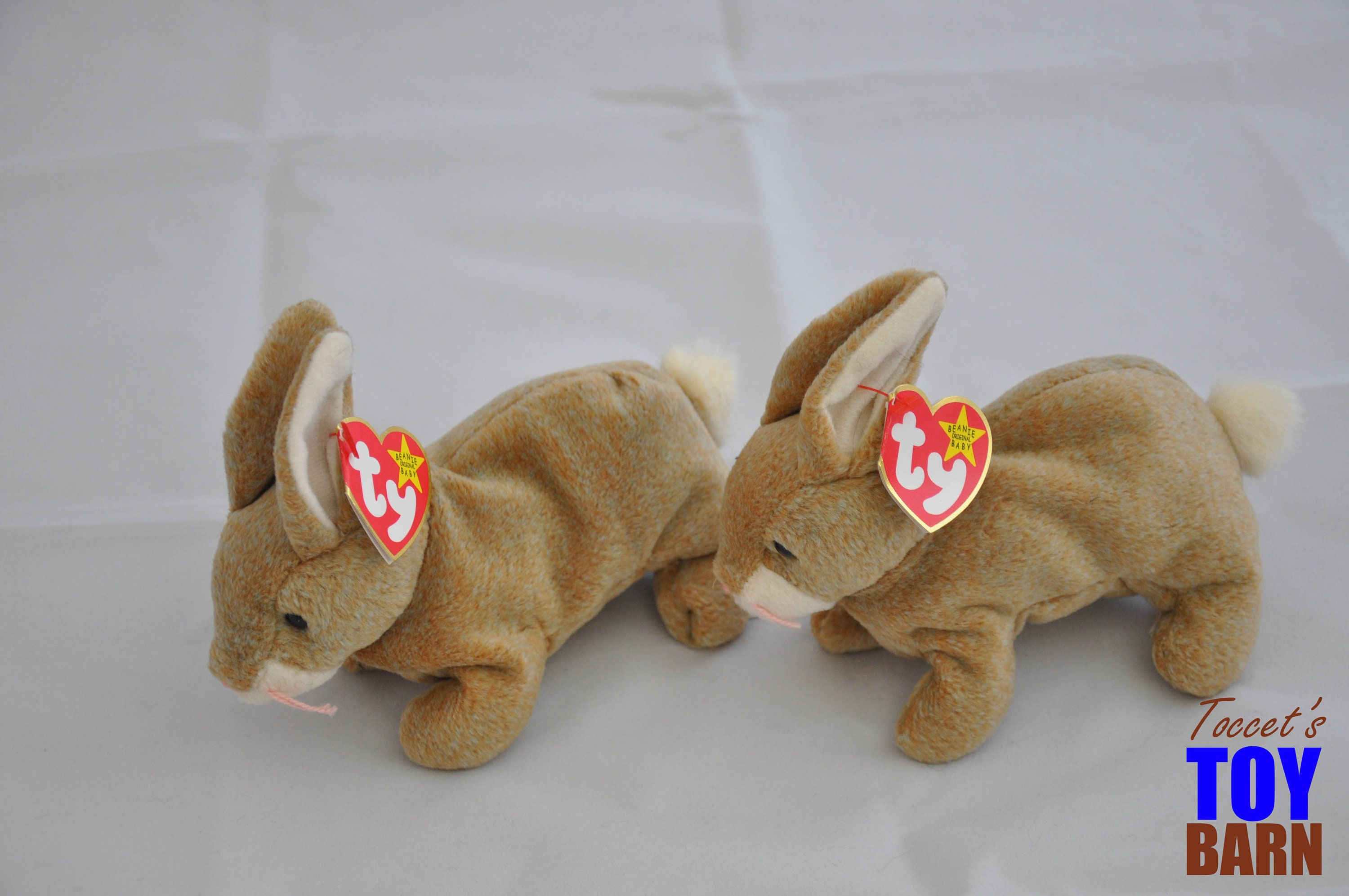 28e19cd1560 Cute Vintage 1998 Ty Beanie Baby Nibbly the Brown Bunny Rabbit