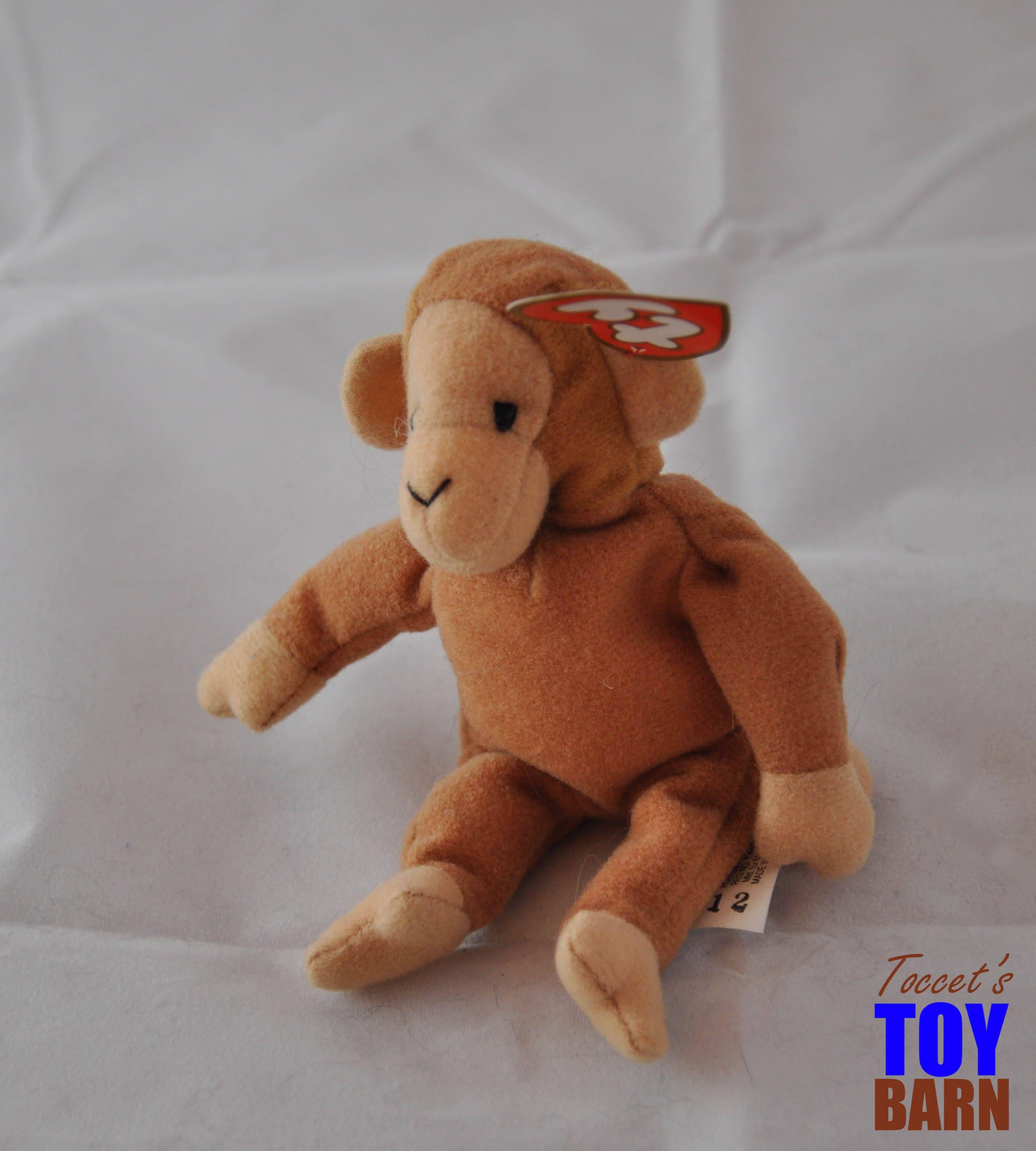 Beanie Baby Primate Set: Vintage 1995 Bongo The Monkey
