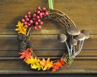 Autumn Mushroom Wreath: Fun, Festive, Unique