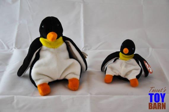 Se dandiner le pingouin 1995 Vintage Ty Beanie Baby (Style 4075) et Teenie Beanie