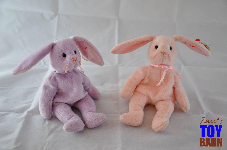 85e800673a2 Hoppity   Floppity Beanie Baby Bunny Rabbits  1996 Vintage Ty ...