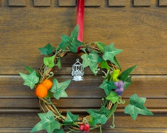 Dale Ringwreath: Tolkien/The Hobbit Inspired Wreath featuring Wool Citrus & Fruit