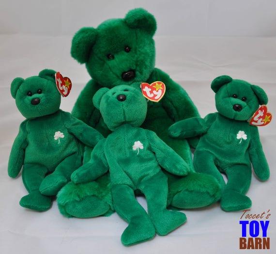 Erin Bears Vintage 1997 Ty Geographic Irish Beanie Baby Bears  4d2bf432363