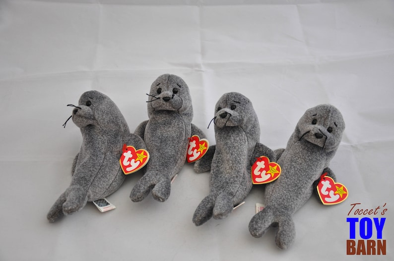 Adorable Vintage 1998 Ty Beanie Baby Slippery the Seal  b96d3ebe8c7d
