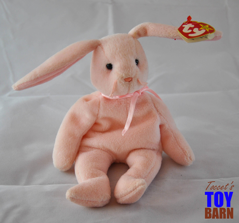 aca1536ca41 Hoppity   Floppity Beanie Baby Bunny Rabbits  1996 Vintage Ty Beanie Baby  Toys