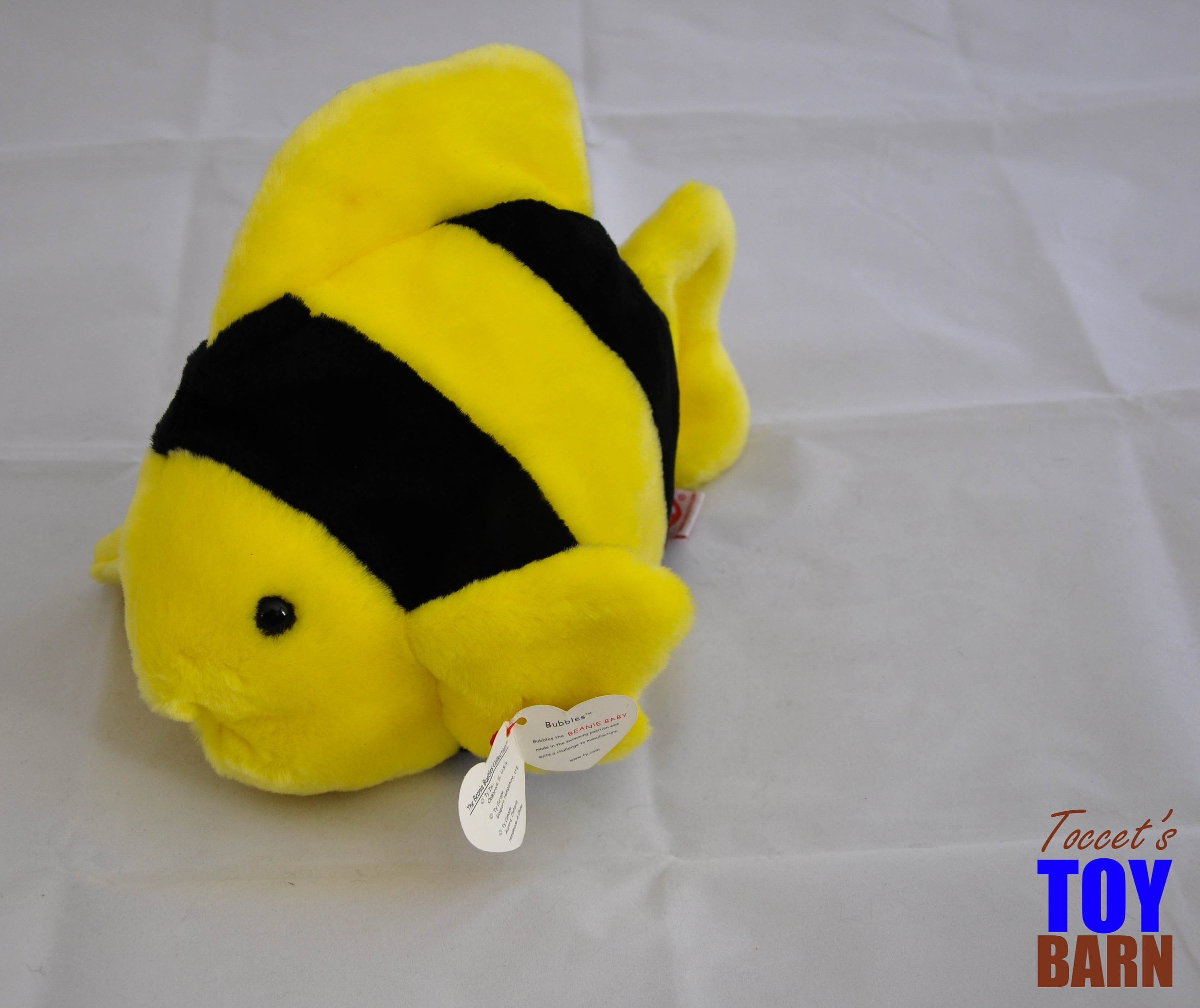 95b5d3411c1 Bubbles the Vintage 1995 Ty Beanie Baby and Beanie Buddy Plush Fish Toy