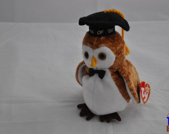 Vintage 2000 Wisest the Owl Class of 2000 Ty Beanie Baby