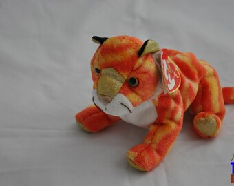 Vintage 2000 Ty Zodiac Beanie Baby: Tiger