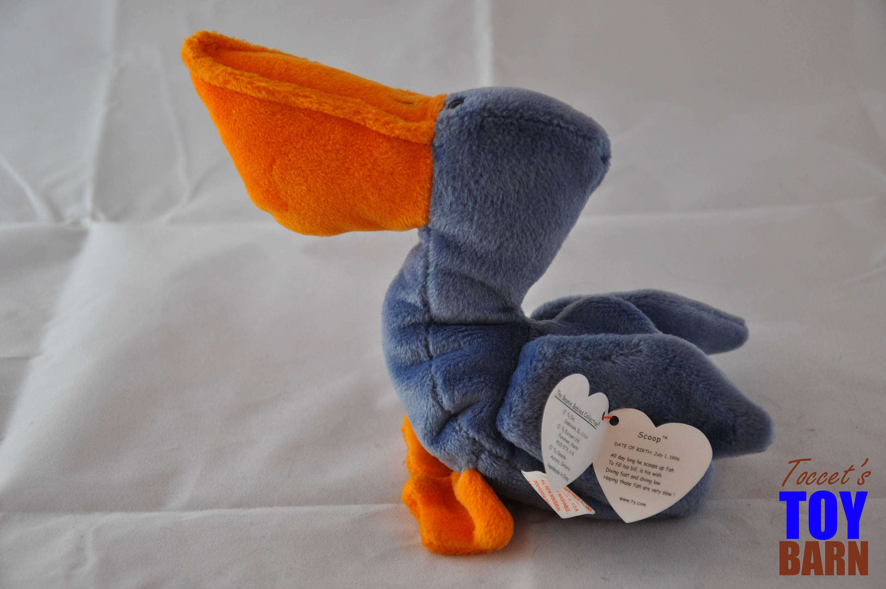 d26d9d11959 Scoop the Pelican  Vintage 1996 Ty Beanie Baby Toys