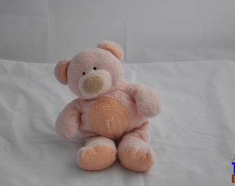 Pinks the Bear 2002 Ty Pluffies Plushie