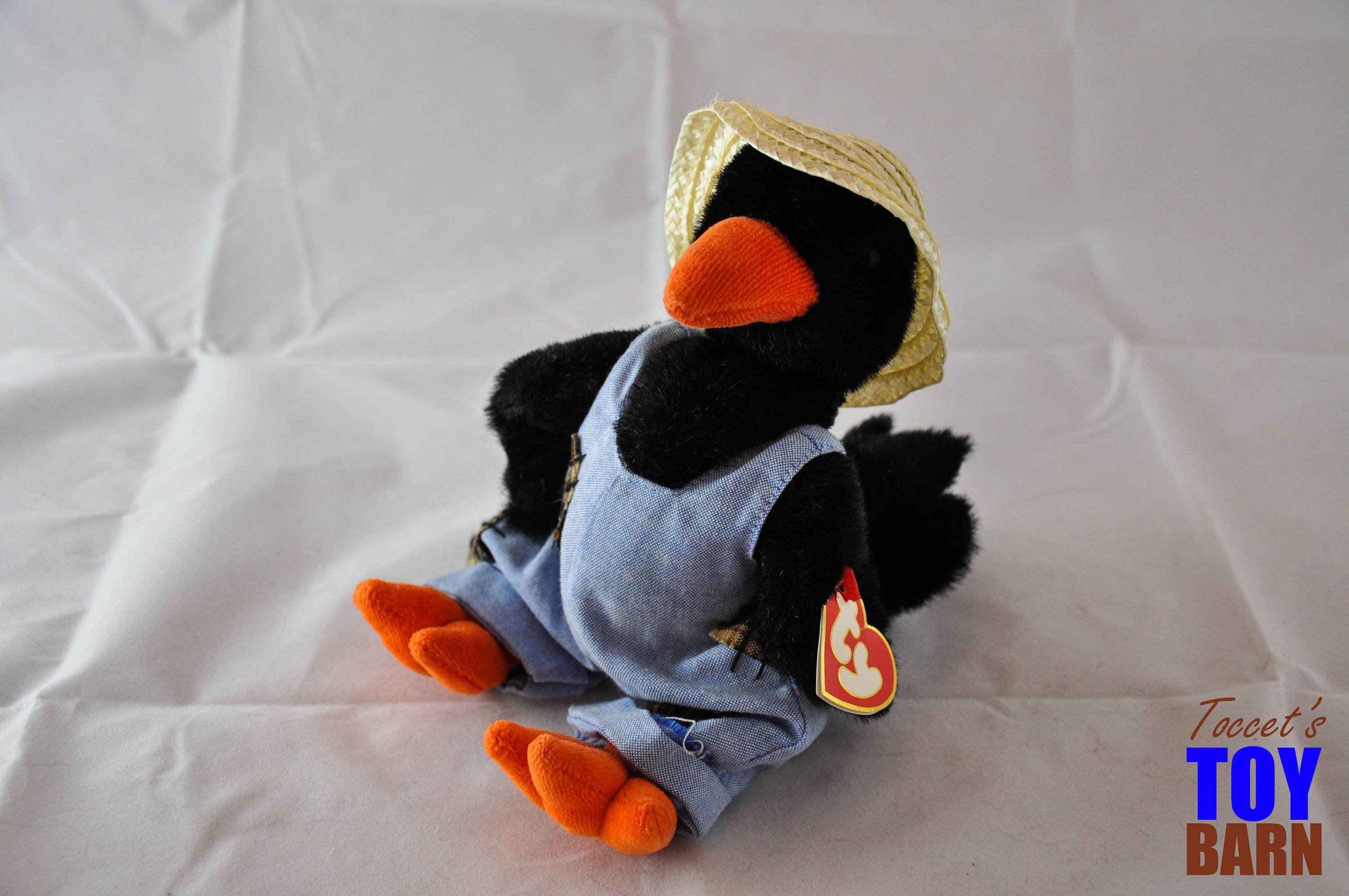 a21106f4d9451 Cawley the Crow 1993 Vintage Ty Attic Treasure Beanie Baby Stuffed ...