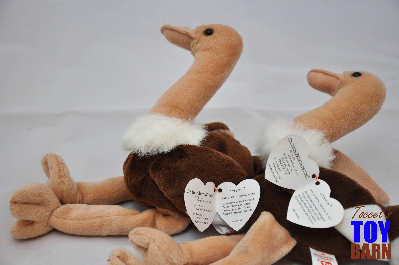557d9d10157 Stretch the Ostrich  Vintage 1997 Ty Beanie Baby Bird