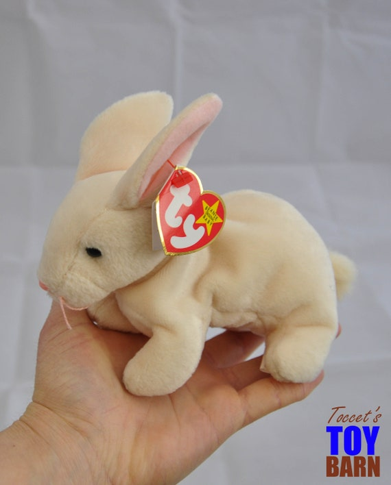 TY Beanie Baby Nibbler the Bunny Rabbit