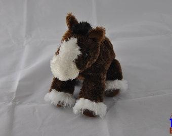 Aurora Clydesdale Horse Plushie Stuffed Animal