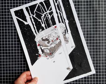 ORIGINAL ART / Snow White / Fairytale