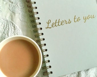 Luxury Foiled Hardback Notebook - Letters To You in Grey