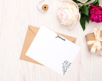 Personalised Notecard Set of 10   Botanical   Free UK Delivery