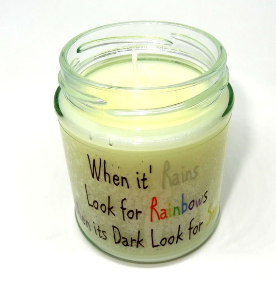 Wicca Scented Jar Candle Dumbledore//Harry potter Quote design Pagan gift