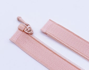 Peach Conceal Closed End Zippers Set of 5