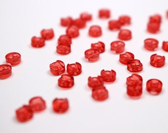 B026C Red  Plastic 4.7mm Micro Mini Buttons Tiny Buttons Doll Buttons Sewing Craft Doll Clothes Making Sewing Supply