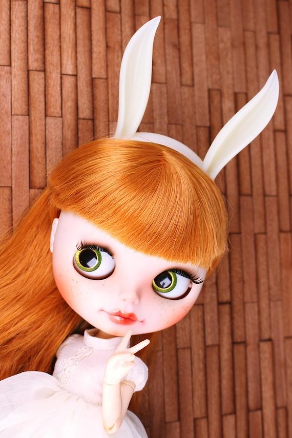 A002 Cute Pink Bunny Ear Headband For Blythe 1//4 1//6 1//8 BJD Barbie Momoko PP FR