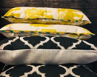 African throw pillow set (Two) - decorative pillows - 16X24- Kontemporêre (Contemporary)