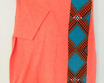 African accented t-shirt - orange