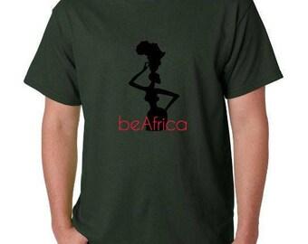 beAfrica logo Tshirt - Military Green