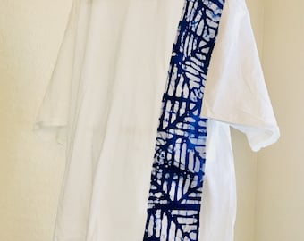 African accented t-shirt - white