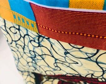 DRA Basket - flex fabric basket - African basket - Koi/Akente multi