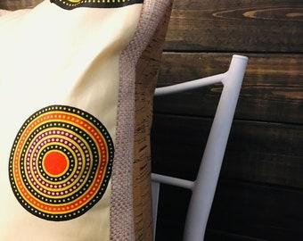 African throw pillow set (Two) - decorative pillows - 13X18- bullseye