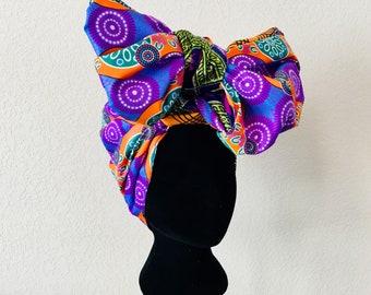 Head Wrap - African - Reversible - Kop Wrap - alles kom vol sirkel (everything comes full circle)
