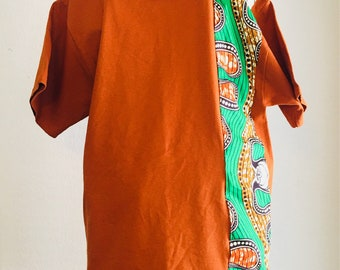 African accented t-shirt - copper