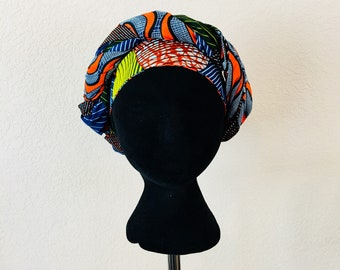 Head Wrap - African - Reversible - Kop Wrap - kalmte (composure)