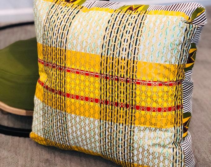 Featured listing image: Meditation pillow- Meditasie kurring decorative pillows - 18x18- Basiese Erfines (Basic Heritage)