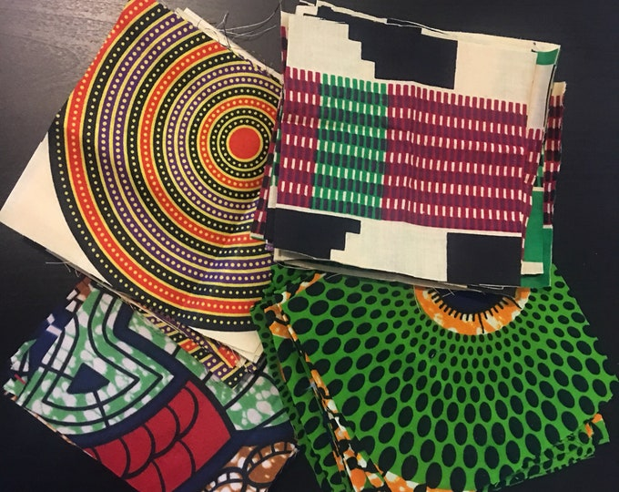 Featured listing image: African Fabric Squares, Precut Squares, Quilting Squares, Fabric Squares, 5 inch Squares, Fabric to Quilt, Scrap Fabric (40pc)
