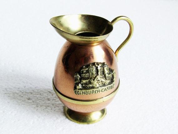 Vintage Miniature Ornament Copper Brass Water Pitcher Jug