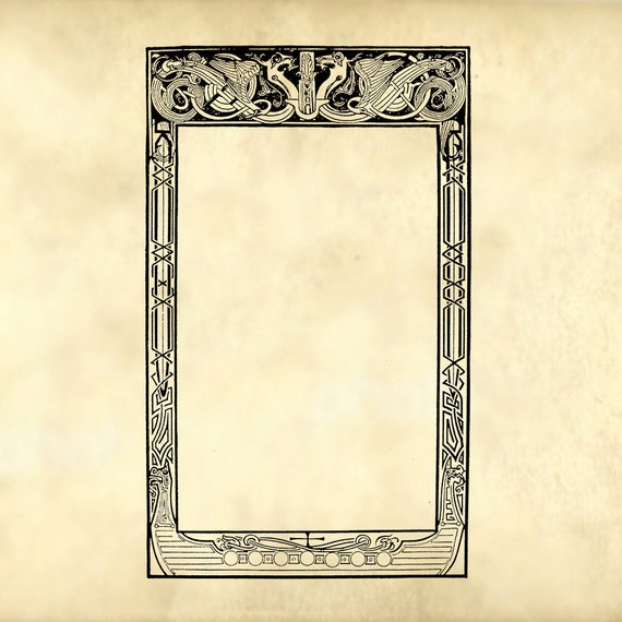Tales from the north viking style ornamental dragon frame
