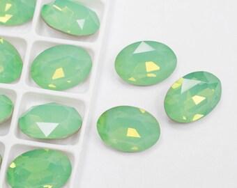 2Pcs 14x10mm Opal Glass Crystal Rivoli Cabochon 2b5117973f78