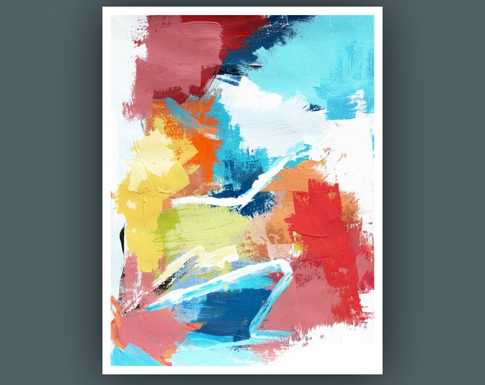 """Original Abstract Painting, Contemporary Art, Abstract Painting, Modern Painting, Fine Art, Painting on Paper 9""""x12"""""""