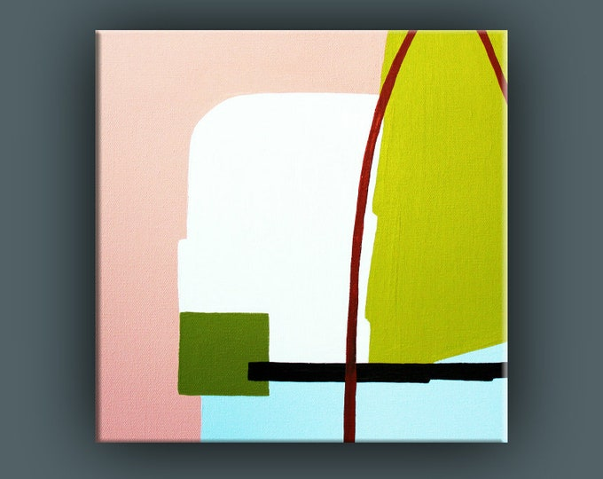 Original Painting, Abstract Painting, Contemporary Art, Acrylic Square Painting, Fine Art, Ready to Hang, Free Shipping