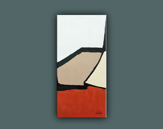"SALE, Original Abstract Painting, Contemporary Art, Acrylic Painting, Fine Art, Abstract paining 32""x16"" Ready to Hang"
