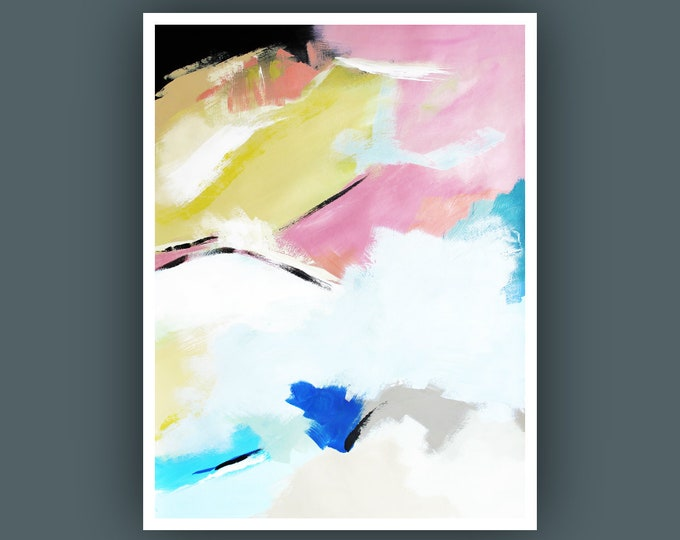 """Original Abstract Painting, Contemporary Art, Abstract Painting, Modern Painting, Fine Art, Painting on Paper 18""""x24"""""""