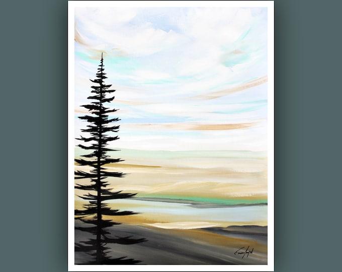 "Original Landscape Painting, Contemporary art, Abstract Painting, Modern Art, Wall Art, Acrylic Painting on Paper, 18""x24"" Acrylic Painting"